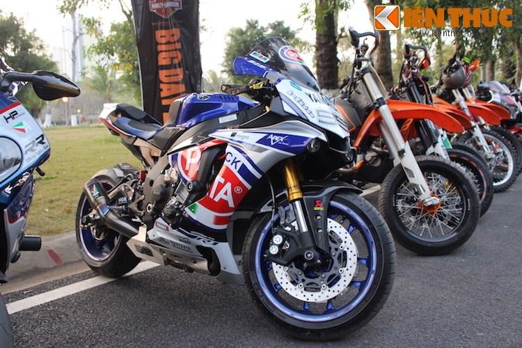 "Dan choi moto phia Bac ram ro show ""xe khung"" tai Ha Noi - Anh 20"