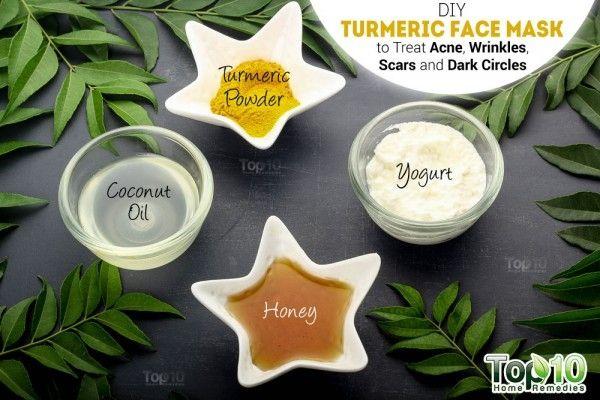 Tự làm mặt nạ bột nghệ trị mụn, nếp nhăn, sẹo và trắng da tại nhà