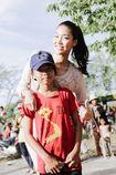 Top 11 Hoa hậu Thế giới Lan Khuê tặng 1.000 phần quà tết
