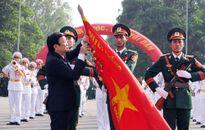 Chủ tịch nước Trương Tấn Sang dự lễ kỷ niệm 70 năm Ngày truyền thống Trường Sỹ quan Lục quân 1