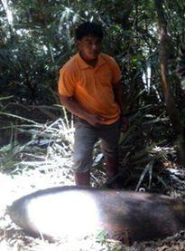 Hủy thành công quả bom nặng 340kg tại VQG Bidoup Núi Bà