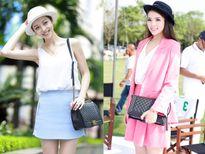 Sao Việt phối đồ khác biệt khi 'dùng chung túi'