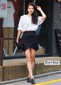 Style dạo phố trẻ trung của phái đẹp Hàn