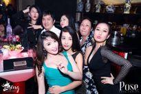 Dàn người đẹp vây quanh Bầu Hòa mừng sinh nhật
