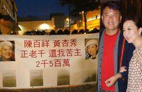 Vợ chồng 'A Châu' bị treo biển đòi nợ tại trụ sở TVB