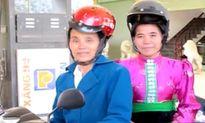 Mũ bảo hiểm cho phụ nữ người dân tộc thiết kế thế nào?
