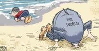 """Biếm họa tuần qua: Mỹ """"vạ miệng"""" và nông dân châu Âu nổi loạn"""