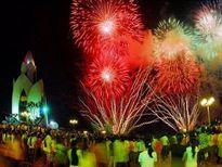 Bắn pháo hoa chào mừng 120 năm ngày thành lập tỉnh Bắc Giang