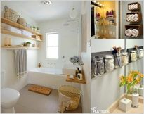 Giải pháp lưu trữ trên tường cho phòng tắm luôn gọn gàng