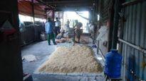 Thu 741kg chà bông trộn hóa chất Trung Quốc trên nền đất
