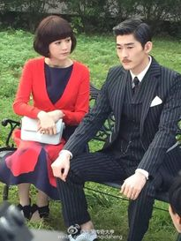 Trương Hàn già nua, Trần Kiều Ân tóc ngắn xinh xắn trên phim trường