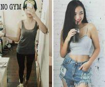 Đường cong cuốn hút nhờ tập gym của thiếu nữ từng 39 kg