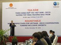 """Tọa đàm """"Triển vọng hợp tác Việt Nam - OECD: Hướng tới tăng trưởng bao trùm"""""""