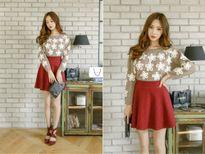 Cách phối đồ đẹp, trẻ trung với chân váy ngắn theo phong cách Hàn
