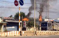 Đường điện 110KV bỗng dưng bốc cháy dữ dội