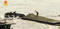 Sông Lô biến dạng bởi khai thác cát, sỏi trái phép