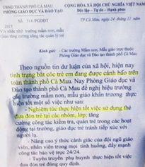 Cà Mau: Thu hồi công văn cảnh báo bắt cóc trẻ em