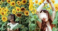 Thiếu nữ bán khỏa thân ở vườn hoa hướng dương gây bức xúc