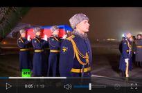 Máy bay chiến đấu hộ tống máy bay chở linh cữu phi công Su-24 về Nga