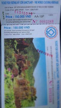 Hủy 50.000 vé tham quan di sản thế giới Mỹ Sơn