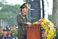 Hình ảnh lễ xuất quân bảo vệ Đại hội Đảng 12