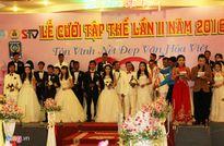 17 cặp vợ chồng công nhân hạnh phúc trong đám cưới tập thể