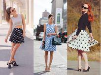 Giới trẻ thế giới đón mùa mới với váy họa tiết chấm bi