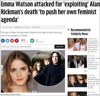 Emma Watson bị chỉ trích vì 'lợi dụng' tin Alan Rickman qua đời