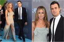 Jennifer Aniston khoe chân thon, tình tứ bên chồng