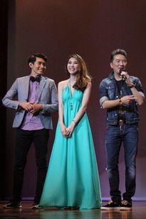 Ngân Khánh vui mừng gặp lại Đàm Vĩnh Hưng, Quang Đăng tại Singapore