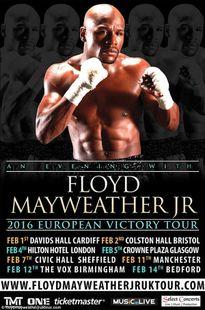 Floyd Mayweather yêu cầu bim bim, khoai tây chiên trong tour UK