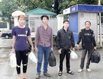 Di lý 4 đối tượng truy nã từ các tỉnh phía Nam về Thanh Hóa