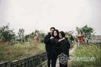 Thanh Lam đưa hai con đi viếng mộ bố - cố nhạc sĩ Thuận Yến