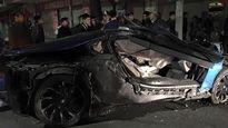 Siêu xe BMW i8 lần thứ 2 gặp nạn ở Hà Nội