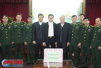 Giám mục Giáo phận Vinh chúc tết BĐBP Hà Tĩnh