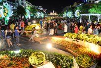 Ngàn người chen chân thưởng ngoạn đường hoa Nguyễn Huệ 2016