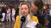 Nữ phóng viên bị làm bậy khi ghi hình trực tiếp