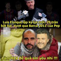 """Ảnh chế: CR7 """"thân tàn ma dại"""" sau ba ngày Tết, HLV Enrique """"khinh thường"""" tài năng của Pep Guardiola"""