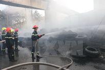 Cháy lớn tại tỉnh An Giang, cách xa 5km vẫn thấy cột khói