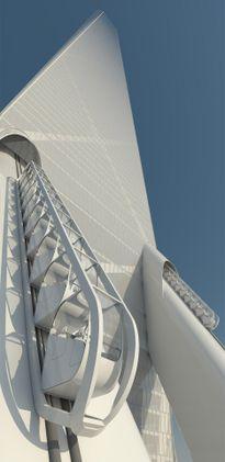 Từ miệng hố tử thần này, người ta sẽ dựng nên một tòa tháp cao tới 600 mét