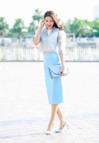 Ngắm trọn thời trang công sở 'đẹp từng centimet' của Phạm Hương