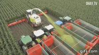 """Những cỗ máy nông nghiệp """"thần thánh"""" làm hết việc của người nông dân"""