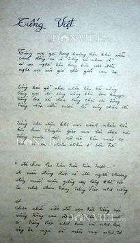 ĐỘC QUYỀN: Tiết lộ bản thảo bài thơ 'Tiếng Việt' của Lưu Quang Vũ