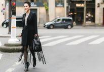 DIễm My sải bước trên đường phố Paris với hàng hiệu sang trọng