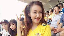 Bà Tưng nóng bỏng cổ vũ Sông Lam Nghệ An