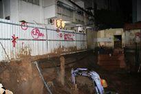 Sụt lún cạnh chung cư, dân Sài Gòn chạy tán loạn trong đêm