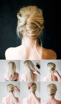 10 kiểu búi tóc cực dễ thương cho nàng tóc dày