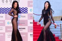 Trang phục hở hết cỡ của sao nữ Hàn Quốc