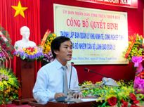 Thành lập BQL Khu kinh tế, Công nghiệp tỉnh Thừa Thiên Huế