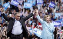 Bầu cử Mỹ: Bà Clinton bất ngờ chọn ông Time Kaine làm 'phó tướng'